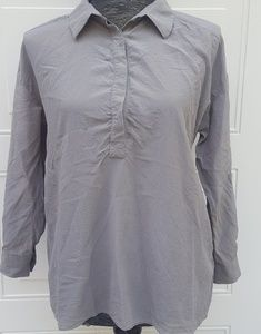 🎉Eileen Fisher 100% Silk Top Gray Sz XS